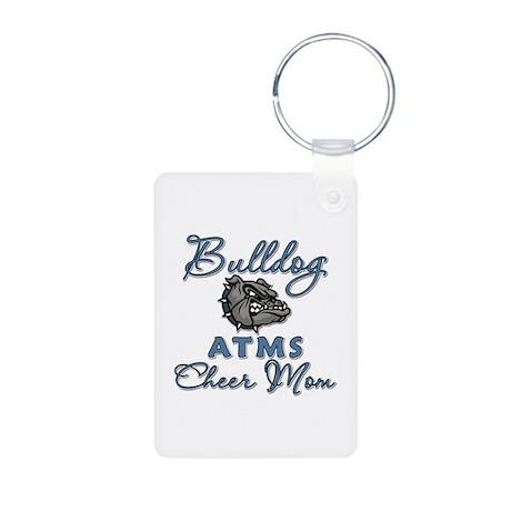 Bulldog ATMS Cheer Mom Aluminum Photo Keychain