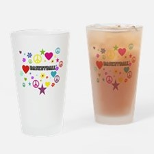 Basketball Mixed Graphic Drinking Glass