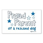 Proud Parent (Dog) Rectangle Sticker