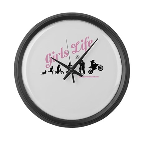 Girls Life Large Wall Clock