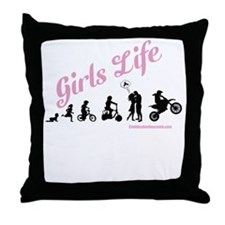 Girls Life Throw Pillow