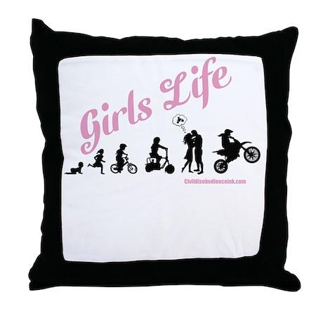Girls Life Throw Pillow
