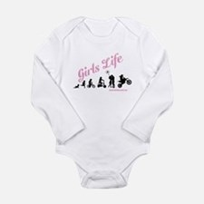 Girls Life Long Sleeve Infant Bodysuit