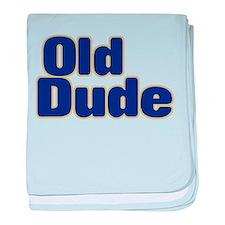OLD DUDE (dark blue) baby blanket