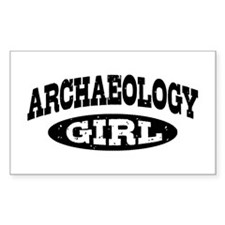 Archaeology Girl Decal