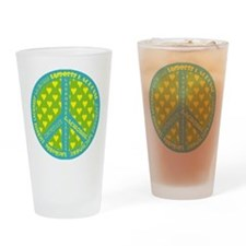 Lacrosse Peace Sign Drinking Glass