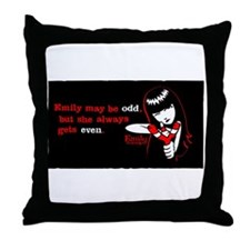 Emily May Be Odd Throw Pillow