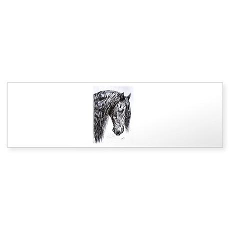 Frisian horse drawing Sticker (Bumper)
