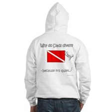 SCUBA Dad Twins - Front and Back Jumper Hoody
