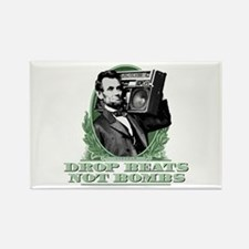 Abe Lincoln - Drops Beats Not Bom Rectangle Magnet
