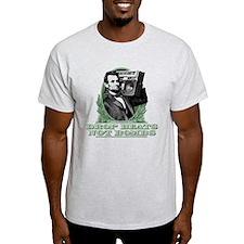 Abe Lincoln - Drops Beats Not Bombs! T-Shirt
