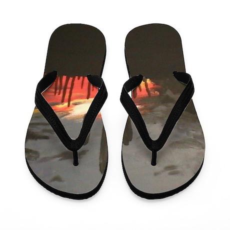 Desert Sunset Flip Flops