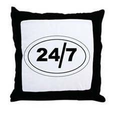 24/7 Throw Pillow