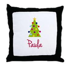 Christmas Tree Paula Throw Pillow