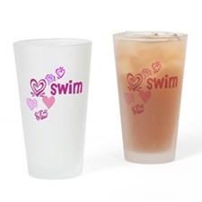 Love Swim Drinking Glass
