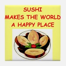 sushi joke Tile Coaster