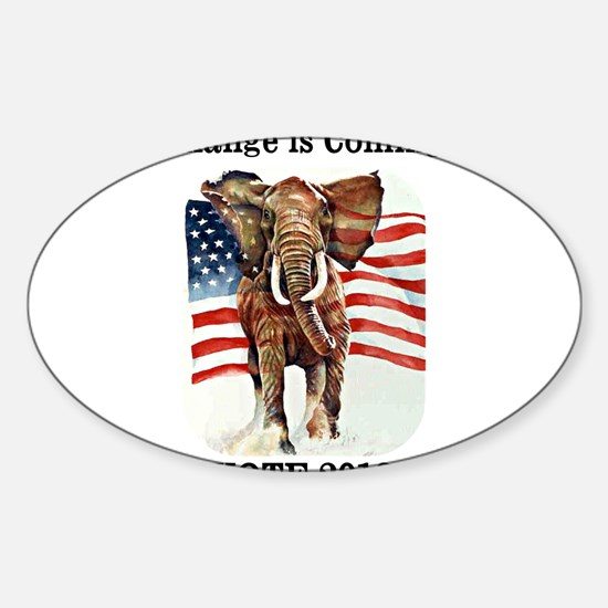 Cute Obummer Sticker (Oval)