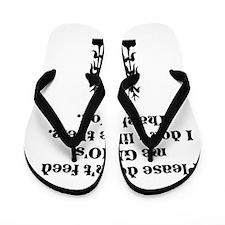 Please Don't Feed Me GMO's Flip Flops