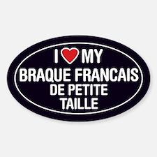 I Love My Braque Francais Decal
