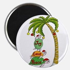 Hawaiian Christmas Santa Turtle Magnet