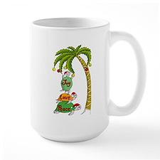 Hawaiian Christmas Santa Turtle Mug