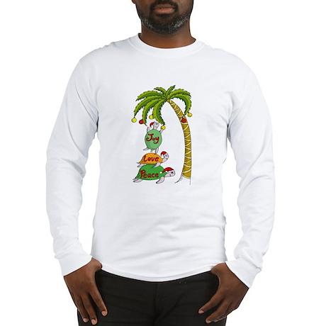 Hawaiian Christmas Santa Long Sleeve T-Shirt