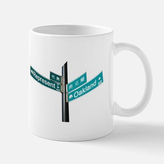 Corner of Represent and Oakla Mug