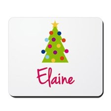 Christmas Tree Elaine Mousepad
