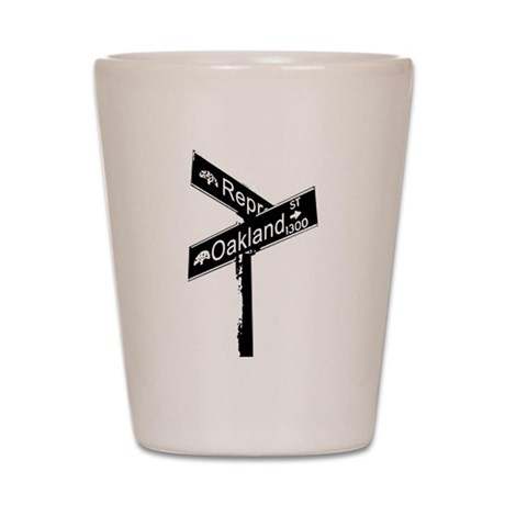 Cross Corner of Represent and Shot Glass