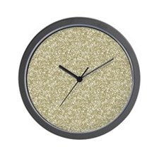Gold Glitter Wall Clock