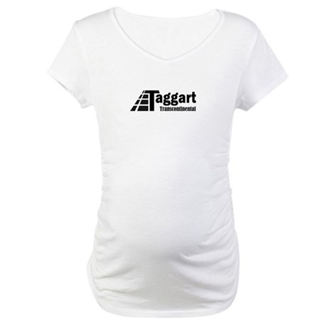 Taggart Transcontinental Blac Maternity T-Shirt