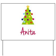 Christmas Tree Anita Yard Sign