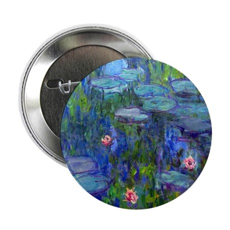 "Monet - Water Lilies 2.25"" Button"