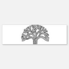 Oakland Tree (light) Bumper Bumper Sticker