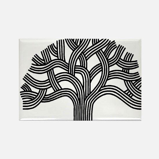 Oakland Tree (light) Rectangle Magnet