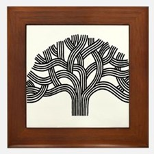 Oakland Tree (light) Framed Tile