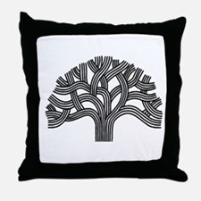 Oakland Tree (light) Throw Pillow