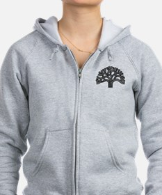 Oakland Tree (light) Zip Hoodie
