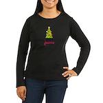 Christmas Tree Joanne Women's Long Sleeve Dark T-S