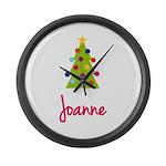 Christmas Tree Joanne Large Wall Clock