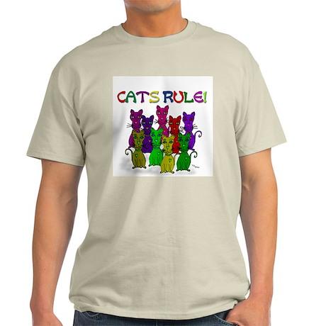 Cats Rule Ash Grey T-Shirt