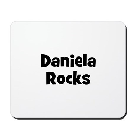 Daniela Rocks Mousepad