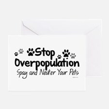 Stop Overpopulation - Spay Neuter Greeting Cards (