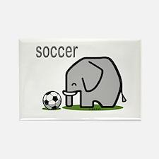 Soccer Elephant (2) Rectangle Magnet