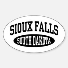 Sioux Falls South Dakota Sticker (Oval)