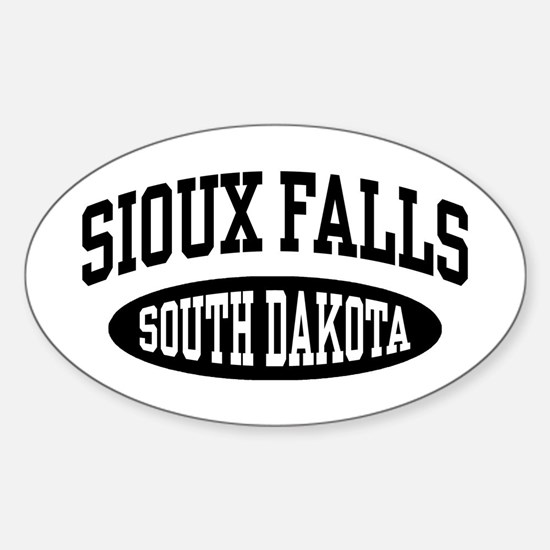 Sioux Falls South Dakota Sticker (Oval)