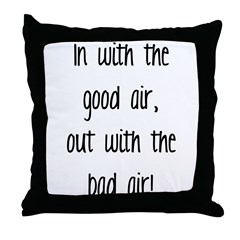 Good Air Throw Pillow