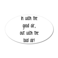 Good Air 22x14 Oval Wall Peel