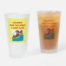kayaking Drinking Glass