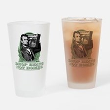 Abe Lincoln - Drops Beats Not Bombs Drinking Glass